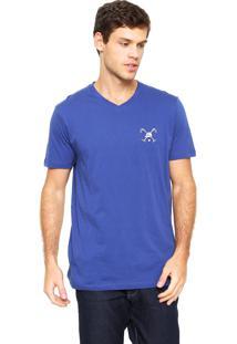 Camiseta Polo Play Bordado Azul