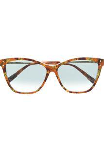 Missoni Eyewear Óculos De Sol Gatinho Com Efeito Tartaruga - Marrom