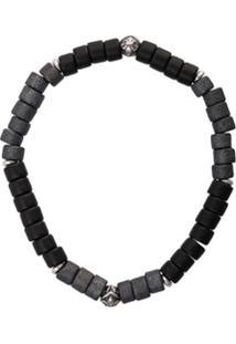 Nialaya Jewelry Pulseira Elástica De Contas - Preto