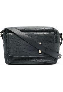 Tila March Leather Textured Cross-Body Bag - Azul