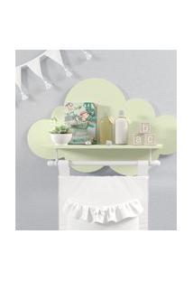 Prateleira Nuvem Verde Quarto Bebê Mdf Varáo Gráo De Gente Verde
