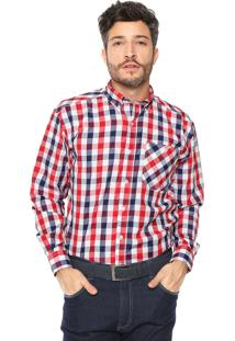 Camisa Wrangler Xadrez Branca/Vermelho