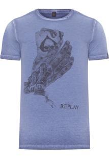 Camiseta Masculina Poker - Azul