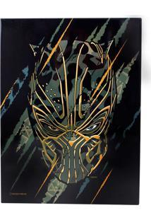 Quadro Em Metal Pantera Negra Geek10