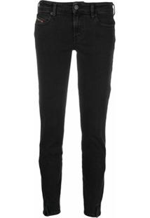 Diesel Calça Jeans Cintura Baixa - Preto