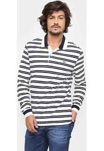 Camisa Polo Lacoste Piquet Listras - Masculino