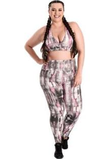 Legging Plus Size Atrevyda Light Estampado Feminina - Feminino