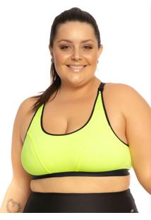 Top Plus Size Com Regulagem Amarelo