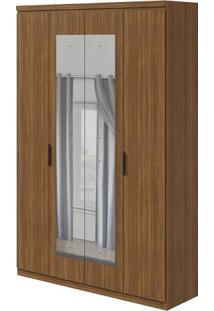Guarda-Roupa Alonzo Plus Com Espelho - 100% Mdf - 4 Portas - Rovere Naturale