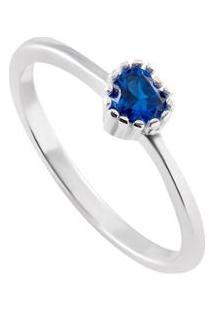 6b02987288cba Anel Giullia Ferraz Store Coração Prata 925 Feminino - Feminino-Azul