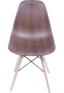 Cadeira Eames Polipropileno Amadeirado Escuro Base Madeira - 40596