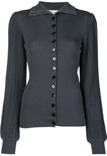 Lemaire Knitted Pleated Cardigan - Cinza