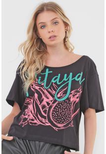 Camiseta My Favorite Thing(S) Pitaya Preta - Preto - Feminino - Algodã£O - Dafiti