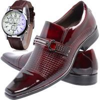 83daad5409e Sapato Social Relógio Gofer 651 Vinho