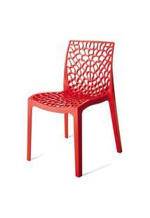 Cadeira Gruver Polipropileno Vermelha - 15118 Vermelho