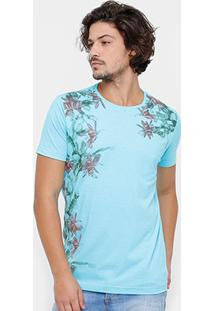 Camiseta Side Way Flores Masculina - Masculino