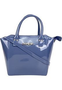 Bolsa Petite Jolie Shape Feminina - Feminino-Azul