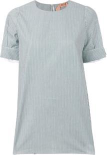 Nº21 Blusa Listrada - Verde