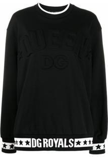 Dolce & Gabbana Blusa De Moletom Com Logo - Preto