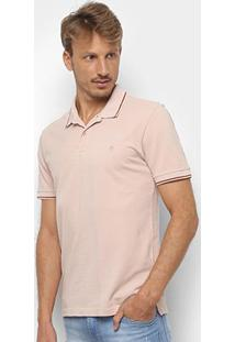 Camisa Polo Forum Básica Masculina - Masculino-Areia
