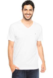 Camiseta Aramis Regular Fit Lisa Branca