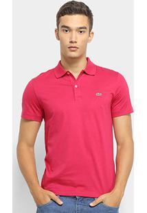 Camisa Polo Lacoste Malha Original Fit Masculina - Masculino-Rosa