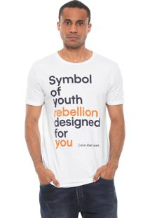 Camiseta Calvin Klein Jeans Symbol Of Youth Branca