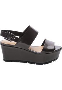 Sandália Flatform New Aço | Schutz