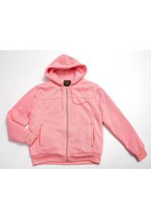 Jaqueta Plus Size Besni Capuz Feminina - Feminino-Rosa