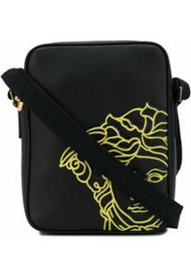 Versace Bolsa Carteiro Pop Medusa - Preto