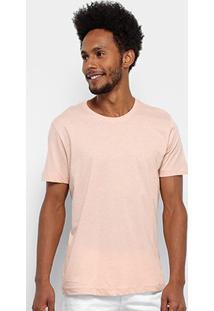 Camiseta Forum Básica Masculina - Masculino-Bege