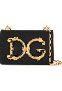 Dolce & Gabbana Bolsa Tiracolo D&G Girls Lamé - Preto