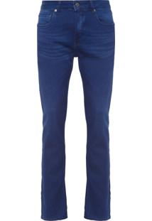 Calça Masculina Five Pockets Slim - Azul