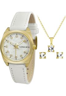 Kit Relógio Feminino Lince Lrch051L Kt46B1Bx