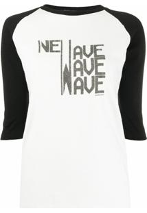 Saint Laurent Blusa Com Estampa Gráfica - Branco
