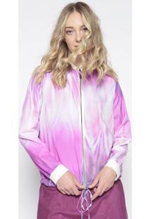 Jaqueta Abstrata - Pink & Branca - Lanã§A Perfumelanã§A Perfume