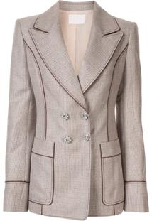 Peter Pilotto Blazer Slim De Lurex - Marrom