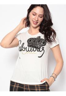 Blusa Fabulous- Off White & Preta- Cavalaricavalari