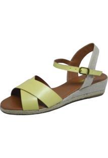 Sandália Anabela S2 Shoes Amarelo