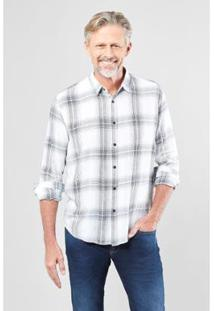 Camisa Regular Reserva Giz Masculina - Masculino-Branco