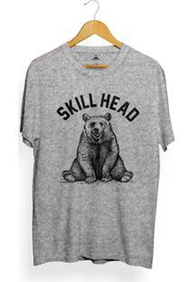 Camiseta Skill Head Bear Arco - Masculino-Mescla