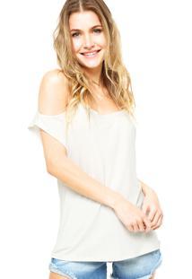 Blusa Ciganinha Enfim Lisa Off- White