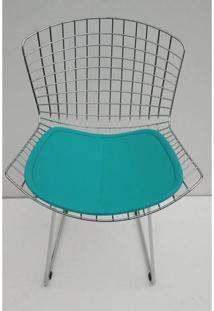 Cadeira Bertoia Assento Courissimo Azul - 21903