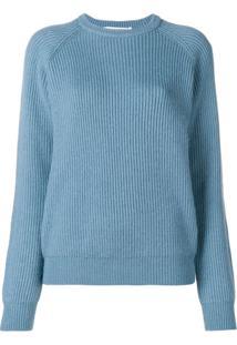 Cristaseya Suéter Canelado - Azul