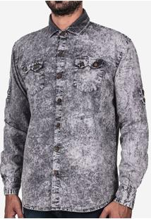 Camisa Cinza Marmorizada 200171