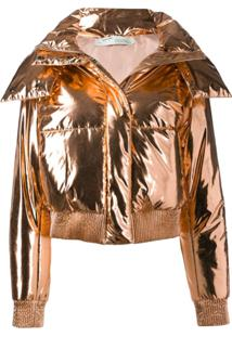 Off-White Down Puffer Jacket - Dourado
