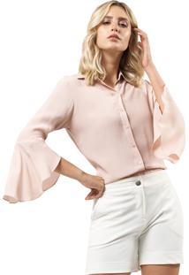 Camisa Mx Fashion Viscose Farah Rosê