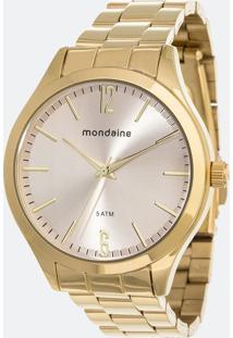 Kit Relógio Feminino Mondaine 76729Lpmvde4Ka Analógico 5Atm + Pulseira