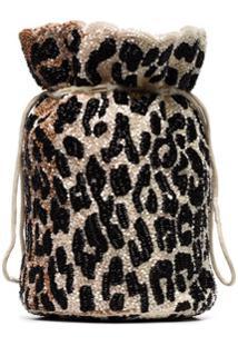 Ganni Bolsa Com Padronagem De Leopardo - Neutro
