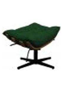 Puff Decorativo Costela Base Giratória Suede Verde - Amarena Móveis